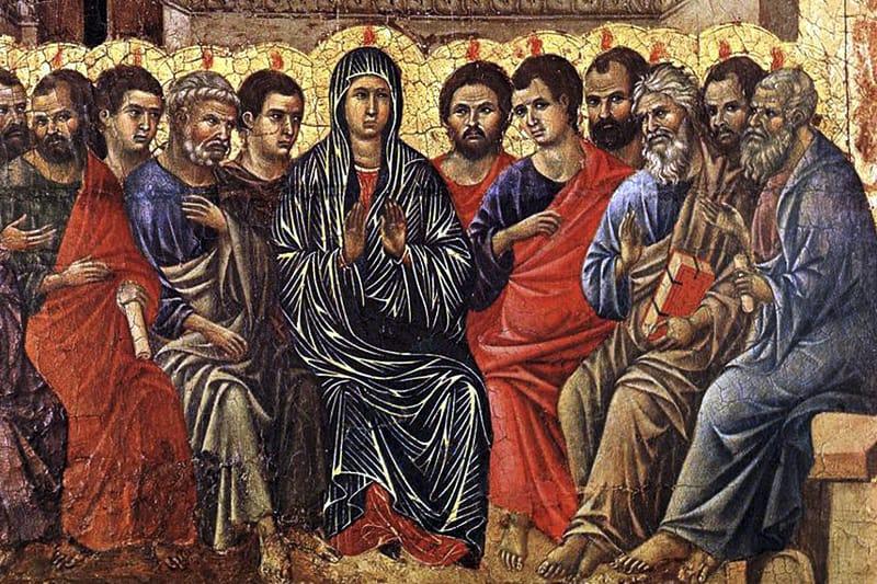 Pentecoste Duccio di Boninsegna 1255 Siena