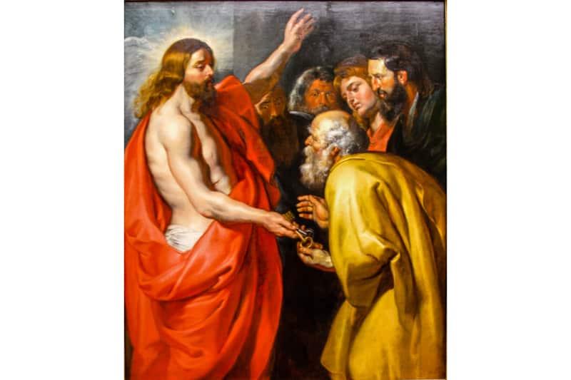 Rubens, Cristo da le chiavi a San Pietro, c 1612–1614, Gemäldegalerie, Berlin