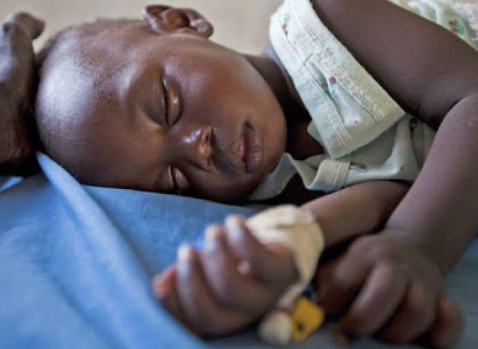 bambino africano malato