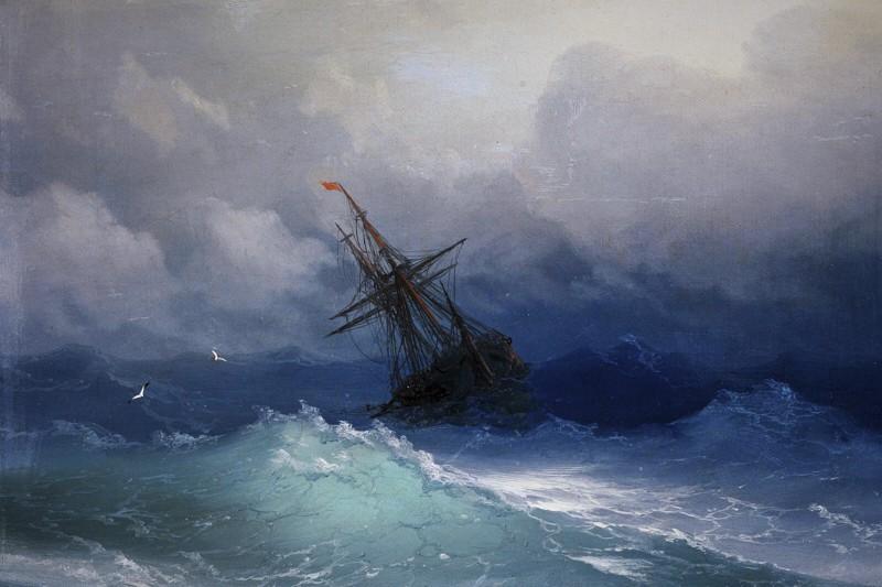 nave nella tempesta