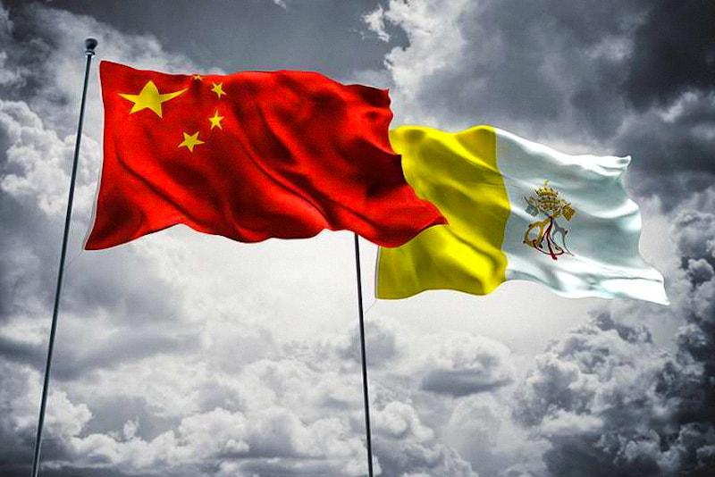 Bandiera Cina e Vaticano