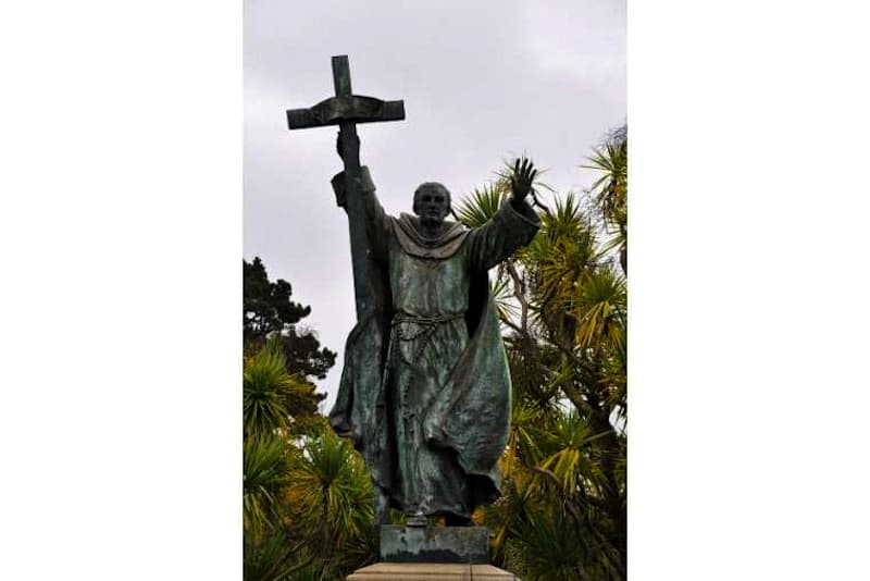 San Junipero Serra, missionario. Statua nel golden Gate Park di San Francisco, California (USA)