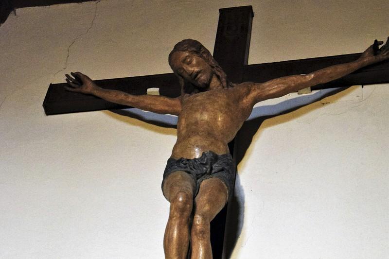 Crocifisso attribuito all'attività giovanile di Jacopo Sansovino.