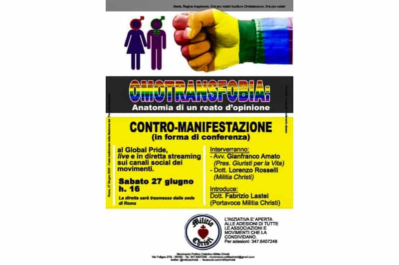 Omotransfobia - contro-manifestazione