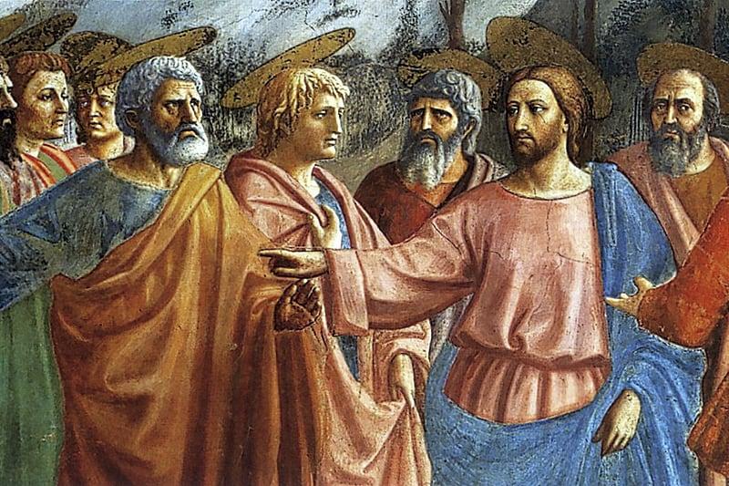 Gesù e Pietro paga tributo - Masaccio (particolare)