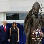 Trump visita il santuario di San Giovanni Paolo II a Washington e l'arcivescovo critica pesantemente la visita