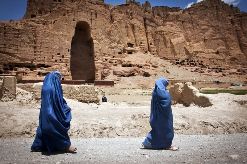 statua abbattuta talebani