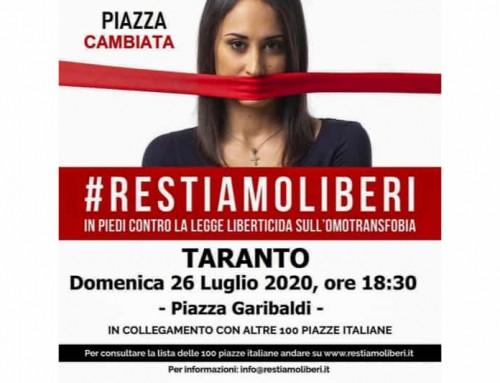 #RESTIAMOLIBERI vi aspetta a Taranto