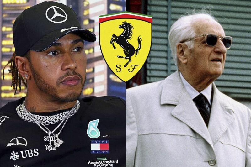 Lewis Hamilton e Enzo Ferrari