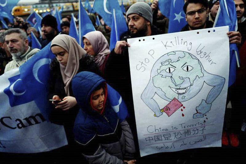 Uiguri manifestazione (Phoyo GettyImages)