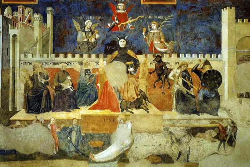 Lorenzetti, Il cattivo governo, Siena
