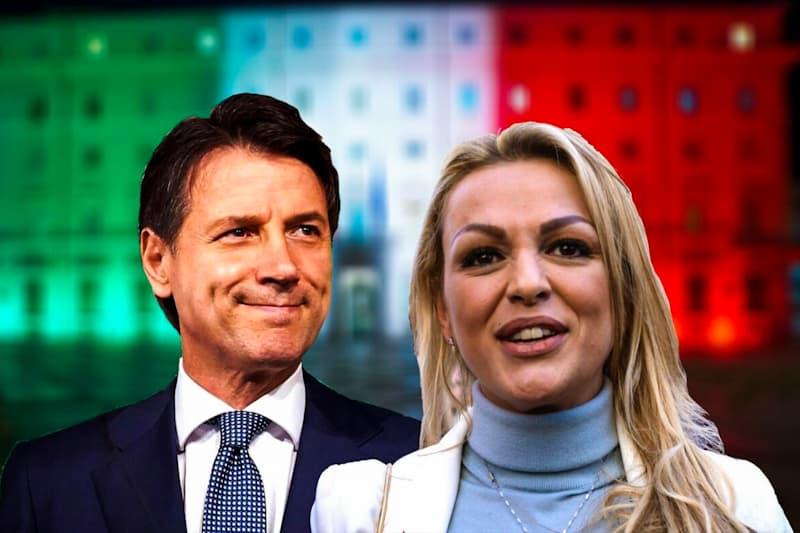 Giuseppe Conte e Francesca Pascale