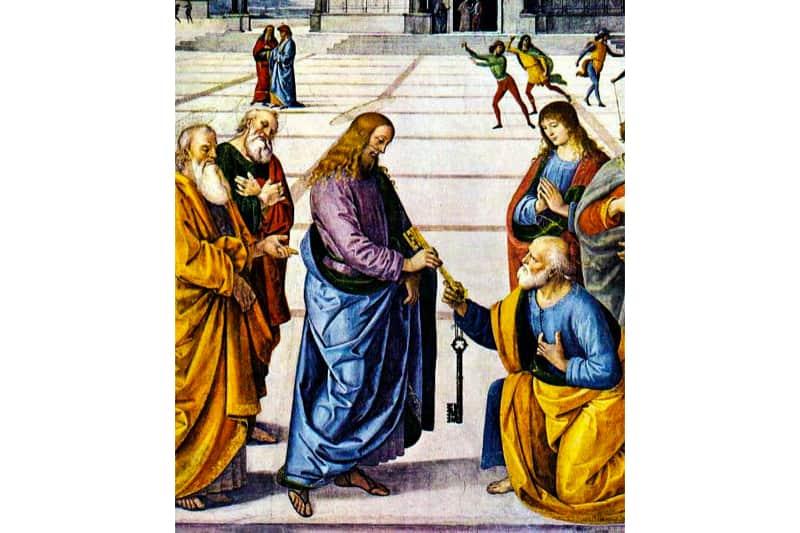 Gesù Pietro chiave mandato petrino