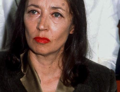 """Oriana Fallaci: """"Credere nell'uomo…."""""""
