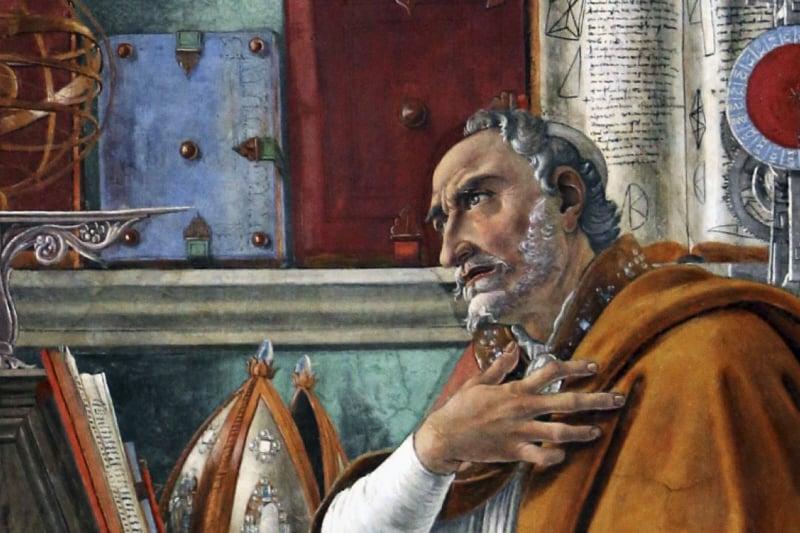 """Sant'Agostino nello studio"" - Botticelli Ognissanti"
