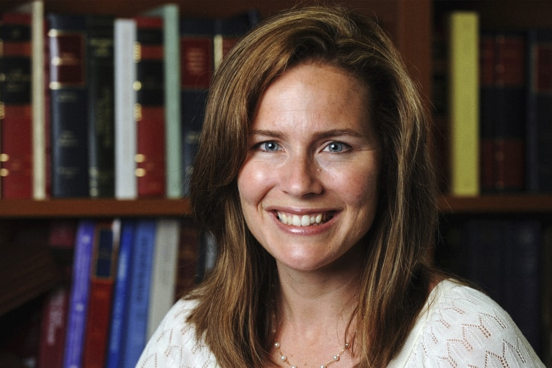 Amy Coney Barrett è un giudice della Corte d'Appello degli Stati Uniti per il 7° Circuito e professore di diritto all'Università di Notre Dame. (CNS photo/Matt Cashore, University of Notre Dame via Reuters)