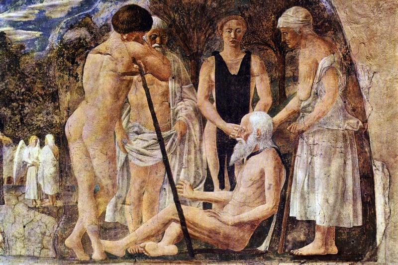 Adamo morente Piero della Francesca