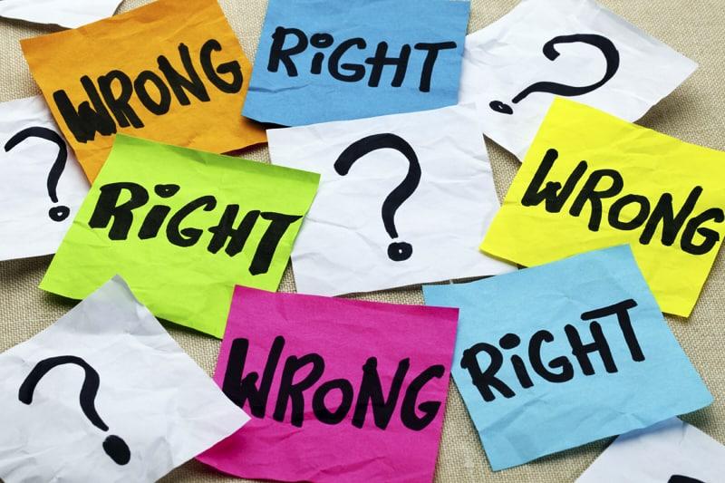 Etica morale moralismo giusto sbagliato