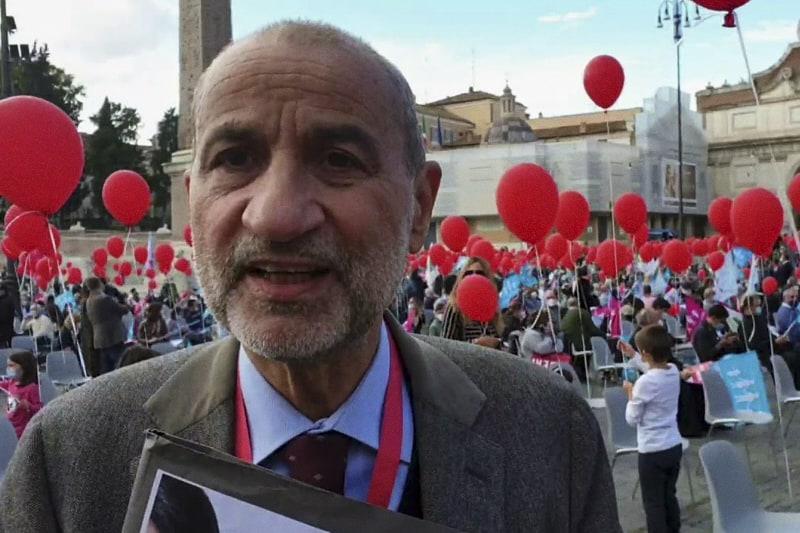 Gandolfini manifestazione contro Legge Zan Roma 17 10 2020