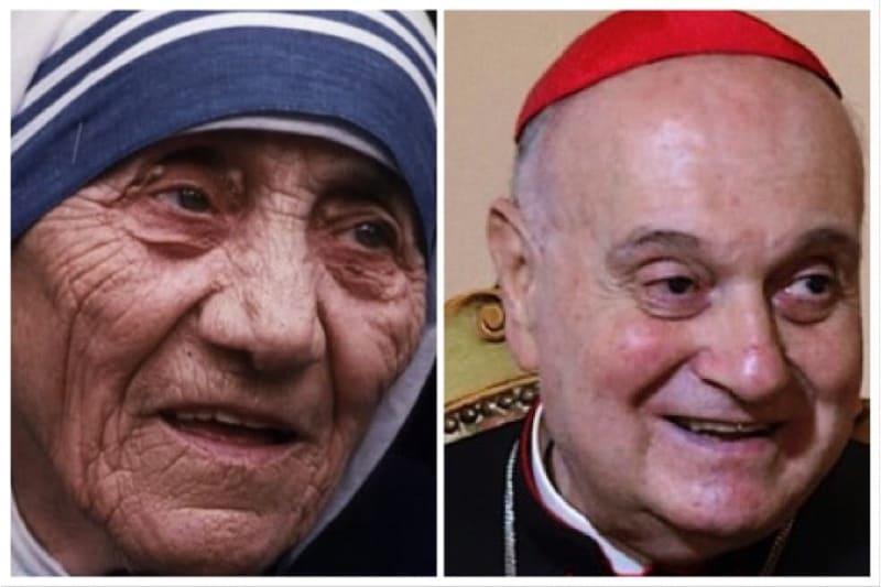 Madre Teresa di Calcutta e il card. Angelo Comaschi