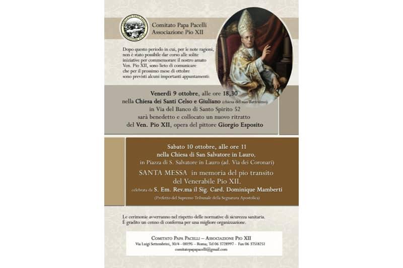 Manifesto-celebrazione-morte-di-Pio-XII-ottobre-2020