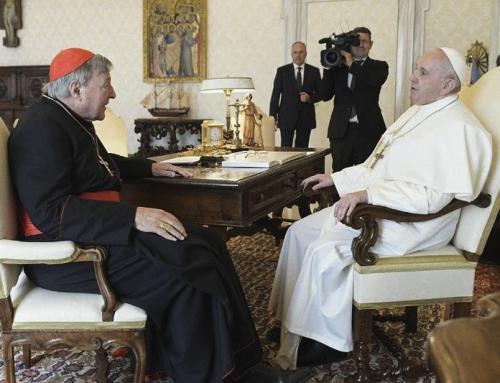 Il Papa incontra il cardinale George Pell