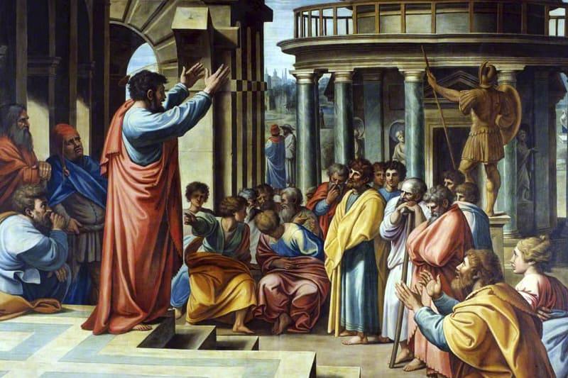 Raffaello, San Paolo parla agli ateniesi, 1517-1519, arazzo