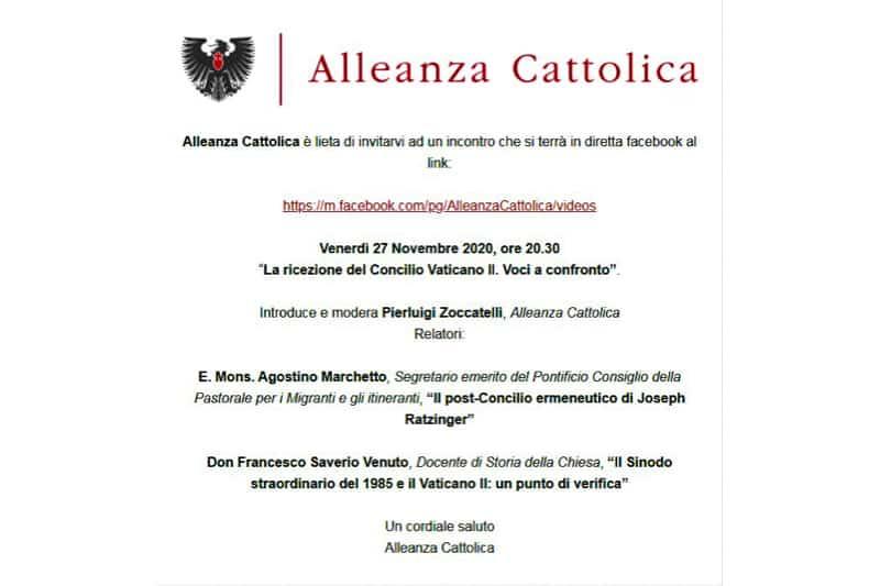 Alleanza Cattolica su Concilio Vaticano II