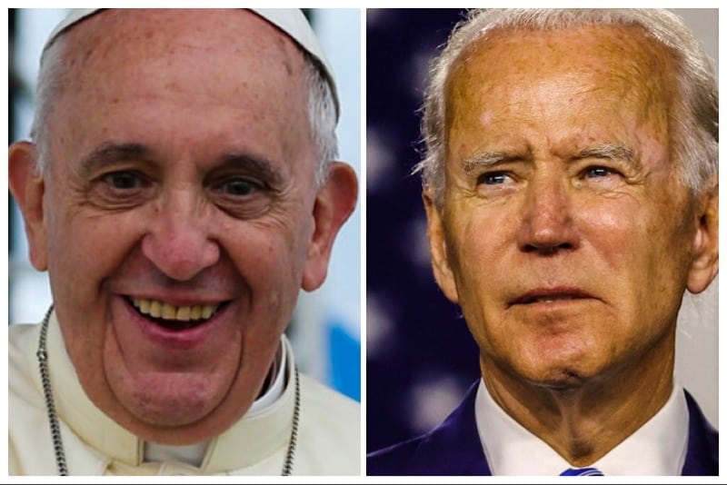 Papa Francesco e Joe Biden