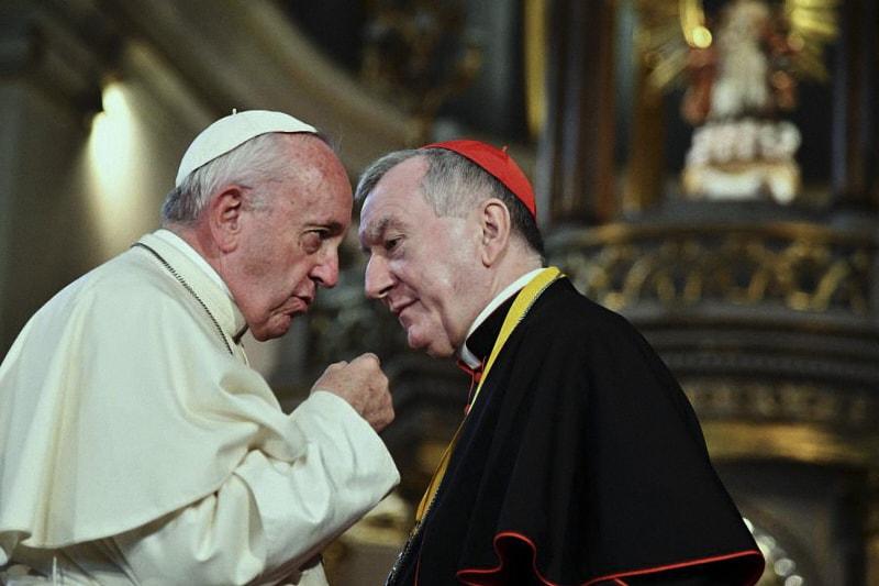 Papa Francesco e il Card. Pietro Parolin, Segretario di Stato Vaticano