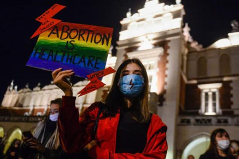 Proteste pro aborto in Polonia foto GettyImages copia