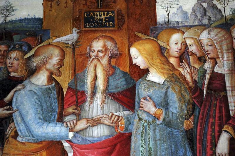Sposalizio della Vergine affreschi di San Girolamo