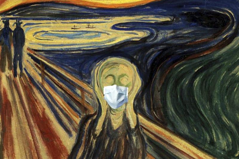 Urlo Munch mascherina coronavirus