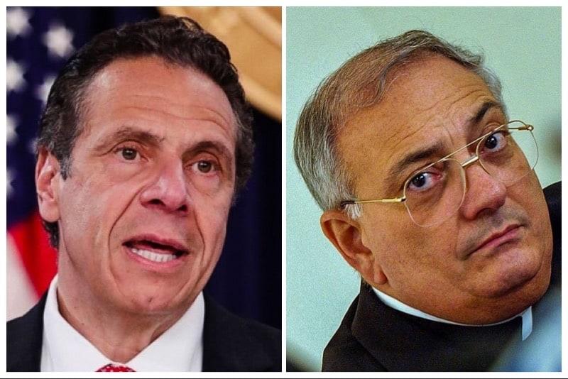 Andrew Cuomo (Governatore NY) - Nicholas-Di Marzio (vescovo di NY)