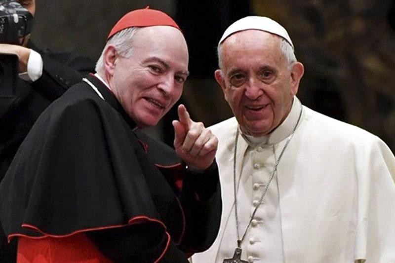 Cardinal Carlos Aguiar e Papa Francesco