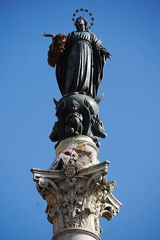 Roma: la Colonna dell'Immacolata