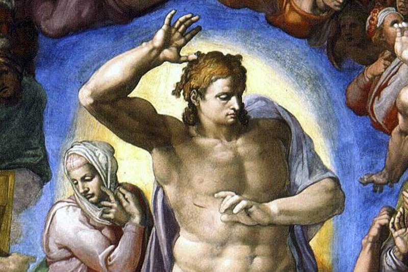Cristo Michelangelo Particolare del Giudizio Universale Cappella Sistina - Vaticano)