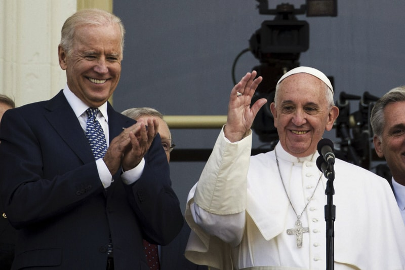 Joe Biden e Papa Francesco