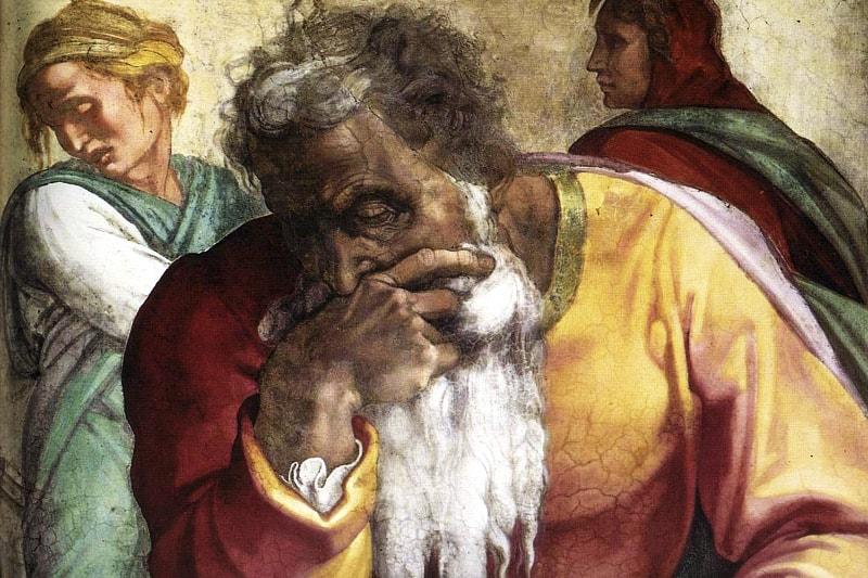 Michelangelo, profeti, Jeremia