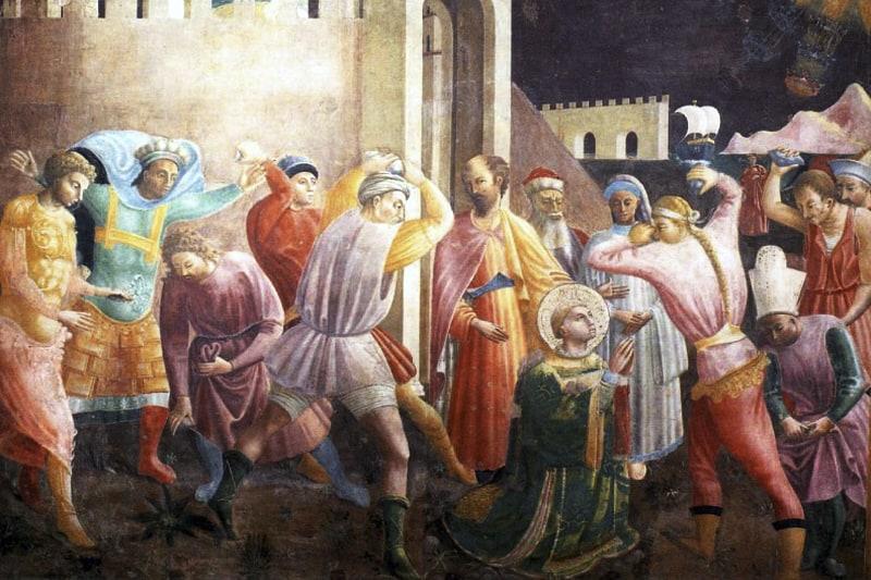 Martirio di Santo Stefano, (Paolo Uccello, 1435 circa, Duomo di Prato) Persecuzione dei cristiani