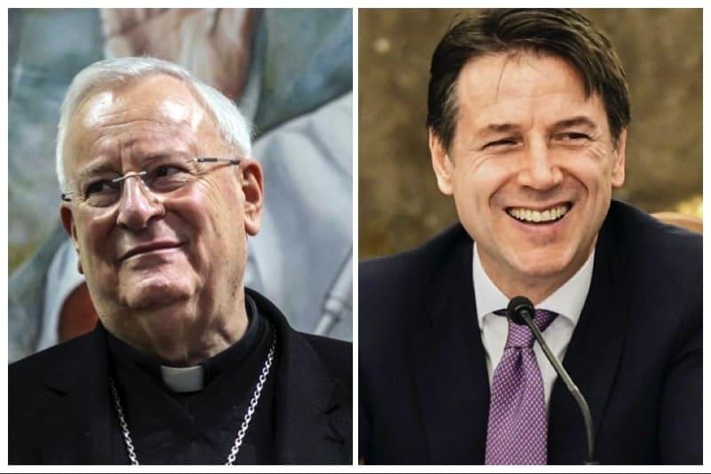 Card. Bassetti e Giuseppe Conte