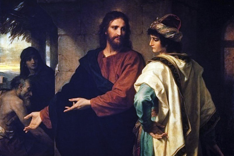 H. Hofmann, Gesù e il giovane ricco