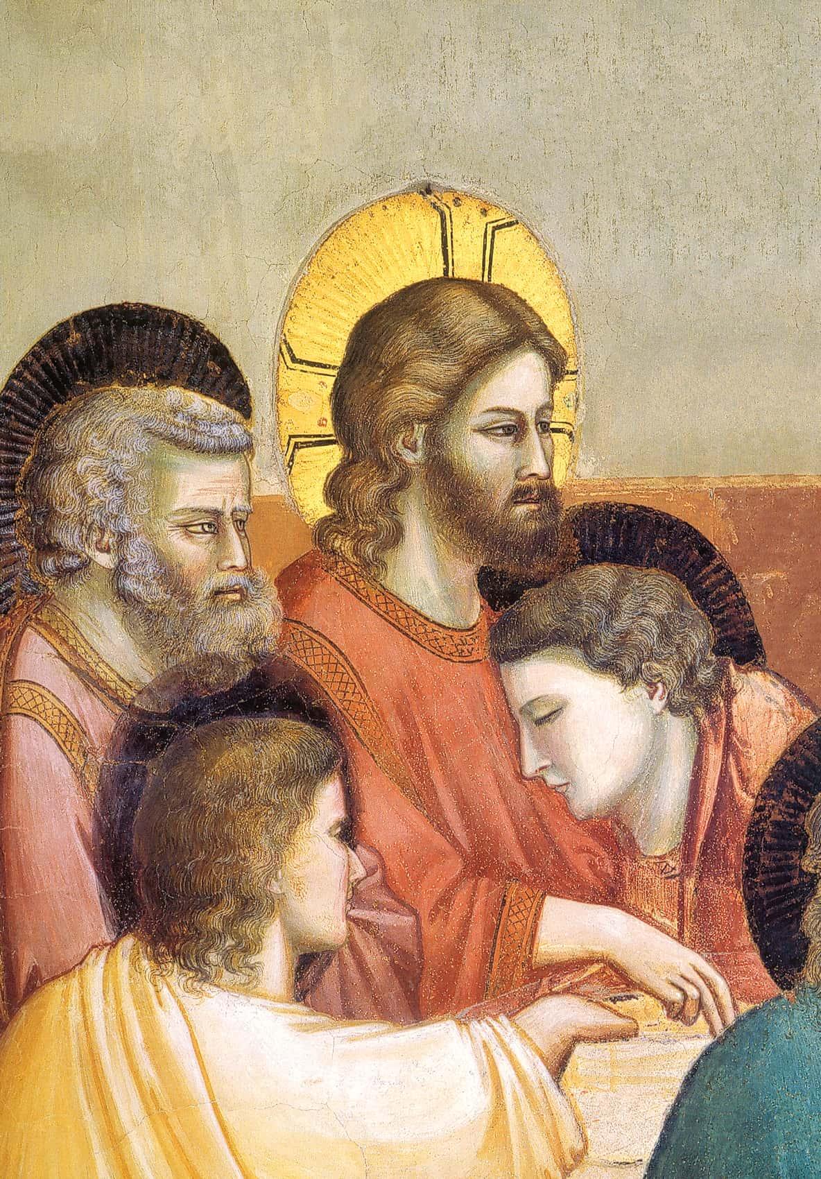 Giotto, Ultima Cena (1303-05), particolare