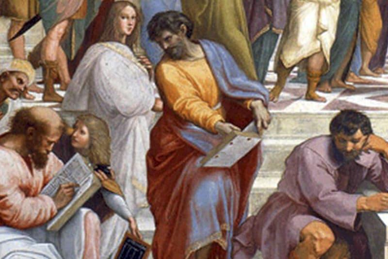 Parmenide (particolare), Scuola di Atene - Raffaello