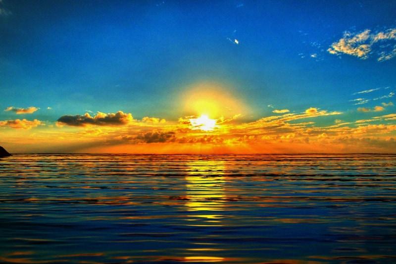 tramonto mare sole