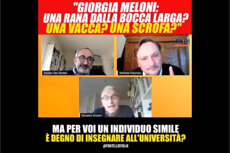 iorgia Meloni definita scrofa