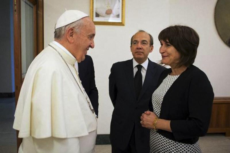 Lilianne Ploumen visit Papa Francesco nel 2015
