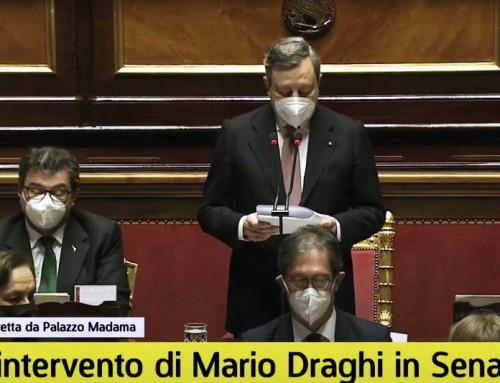 Testo integrale del discorso del Presidente del Consiglio Mario Draghi al Senato