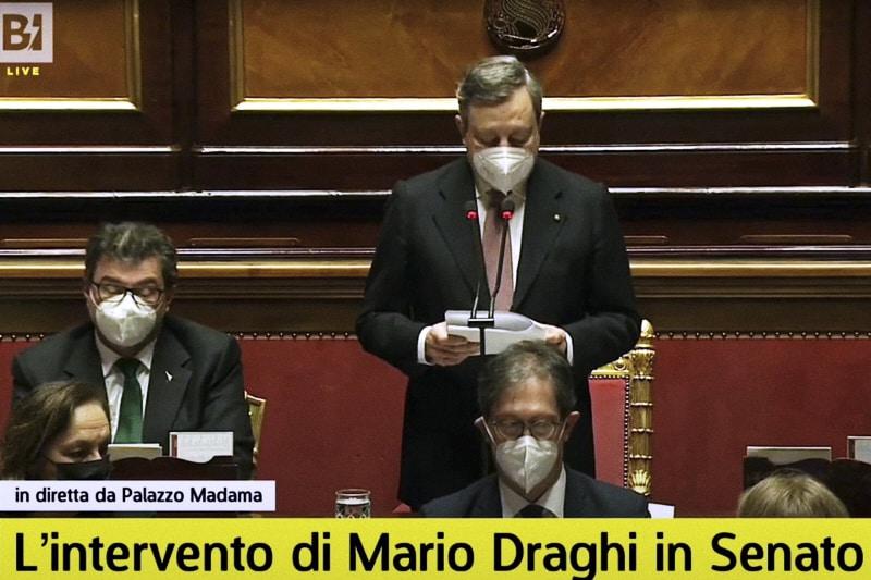 Mario Draghi discorso al senato 17 02 2021