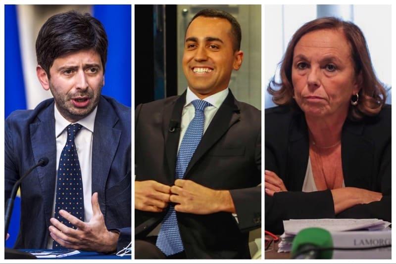 Speranza, Di Maio e Lamorgese (Ministri)